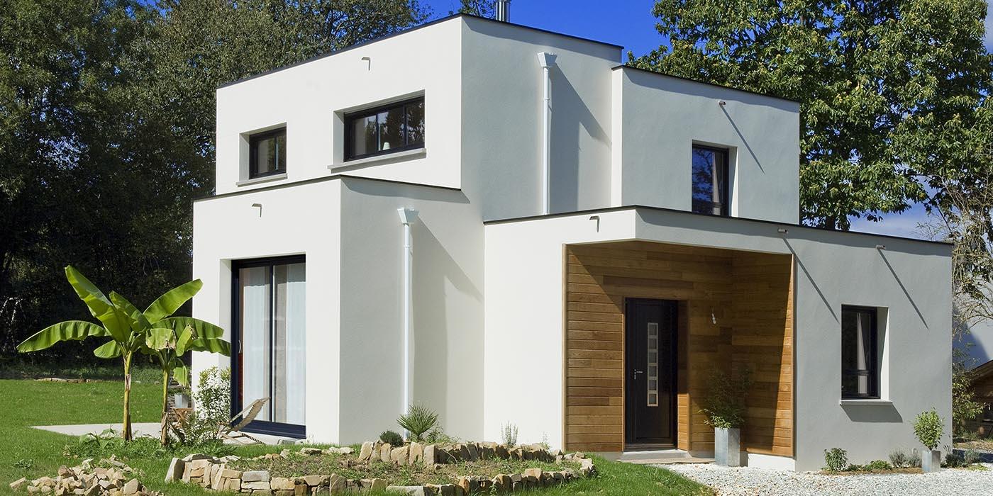 Une maison passive à toit plat en Bretagne