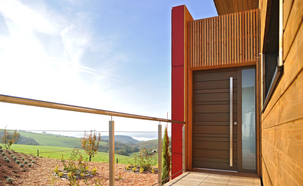 Porte d'entrée en bois Zilten